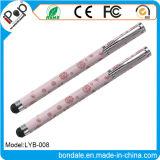 Crayon lecteur 2 d'aiguille dans 1 stylo bille de Rose d'aiguille pour le matériel de panneau de contact
