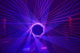 Репроектор лазера выставки одушевленност лазерного луча RGB 4000MW DIY миниый напольный