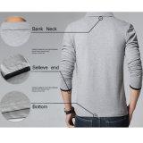 Mischfarben-langes Hülsen-Polo-T-Shirt für Männer