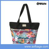 Eco 어깨에 매는 가방을 인쇄하는 친절한 주문 쇼핑 백 형식 꽃