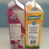 cartón triangular de la leche fresca 1L