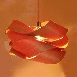 Natürliche materielle umweltfreundliche künstlerische hölzerne Haut-hängende Lampe