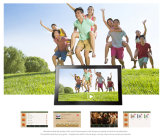 видео-плейер рамки фотоего 13.3-Inch LCD цифров
