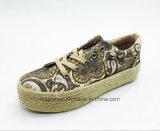 2017 neu Dame Fashion Shoes oben sich schnüren mit Jutefasern (ET-FEK160262W)