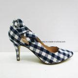 Nuevos zapatos de la señora alineada del alto talón de la manera de las mujeres de la llegada para el partido