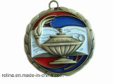 Customed Antique Nickel Sport Bike Medal avec Ribbon (M-03)