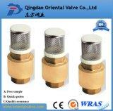 Resorte de fabricación profesional Europa de los Ss válvula de verificación de cobre amarillo estándar con la base de Barss