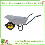 110リットルの庭の金属鍋が付いている乗馬の一輪車