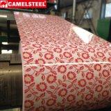 A cor revestiu o projeto de aço de aço do teste padrão de flor da bobina da bobina PPGI