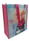 도매 주문 선전용 재사용할 수 있는 박판으로 만들어진 PP 비 길쌈된 쇼핑 백