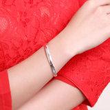Braccialetto d'acciaio semplice dell'argento sterlina di disegno di Unclosed del braccialetto dai 925 Sterling popolare