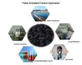 Charbon actif par charbon cylindrique pour le traitement industriel de gaz résiduel