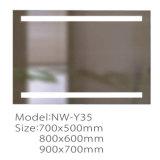 Miroir fixé au mur de salle de bains d'écran tactile du mur DEL de vente chaude
