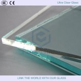 vidro de flutuador ultra desobstruído do ferro de 3-19mm baixo para o edifício/painel solar