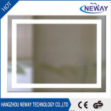 Espejo montado en la pared del cuarto de baño de la pantalla táctil de la pared LED de la venta caliente