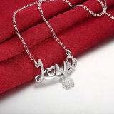 De korte Romantische Halsband van de Tegenhanger van de Vorm van het Hart van de Brief van de Liefde Zircon en de Halsband van de Juwelen van de Stijl van de Manier voor Jong Meisje