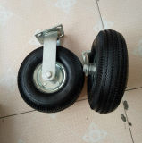 10 pulgadas de echador neumático de goma negro industrial de la rueda