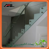 Trilhos de vidro do suporte isolador do aço inoxidável para as escadas internas (CC148)
