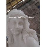 Lady Statue Stand Watering Stone Sculpture Fountain for Garden Decoration (SY-F003)