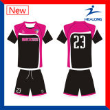 Uniforme personalizado 100% do futebol do Sublimation (uniforme do futebol)