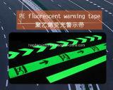 Nastro d'avvertimento fluorescente del polietilene ad alta densità