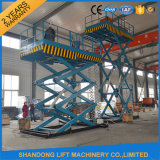 2t Scissor Hydraulic Freight Cargo Elevator Lift with Ce