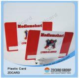 A identificação do PVC do plástico da alta qualidade carda o cartão conhecido de negócio