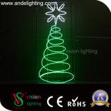 屋外LEDのクリスマスの照明の通りのモチーフはポール・ライトが付いている装飾をつける
