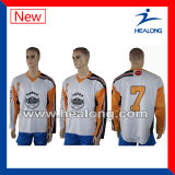 Hóquei Jersey do gelo de Coreia do Sublimation da tintura do OEM de Healong