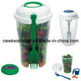 신선한 과일 또는 야채 플라스틱 샐러드 컵 또는 병 또는 셰이커 또는 제작자