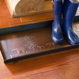Отжатый поднос ботинка ботинка тяжелого метала сада пола дома потека
