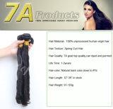 Trame non transformée de cheveux humains de Vierge de l'enroulement 7A de ressort de cheveu