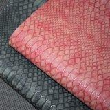 Matt-Tierhaut-OberflächeFaux PU-Leder, künstliches Beutel-Leder