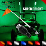4'5'6 'Red Whips LED Light avec Flag-Blue / Green 6' Foot UTV SUV Antenne Whip Sand Car