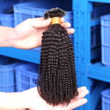A cápsula natural da queratina das extensões do cabelo da fusão de Remy lig pre a queratina 100g malaia pura humana das extensões do cabelo da ponta de U/Nail