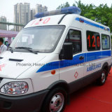 Alto Roof Iveco Chassis Ambulance Car con Diesel Engine