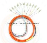 LC/Upc Multimode Vlecht 12cores van de Vezel van mm Optische Gebundelde