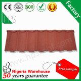 Mattonelle di tetto rivestite della pietra rossa e nera delle mattonelle di tetto piano lustrate