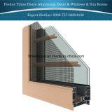 Fenêtre à écran tactile en aluminium avec caractéristiques à l'épreuve des insectes