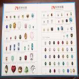Perle de pierres précieuses en pierres précieuses en cristal pour décoration de bijoux