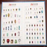 Crystal Gemstone Fancy Stone Bead para jóias Decoração