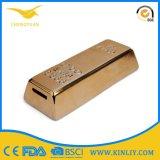 Boda caja de dinero del ahorro de la barra de oro de cerámica hucha con monedas