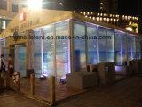 tente mobile d'impression de logo de 10X15m annonçant la cabine d'exposition