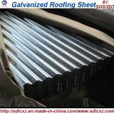 0.13mm-0.8mm galvanizou a chapa de aço/folha da telhadura para o material de construção