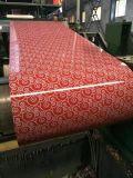 Acero PPGI de la flor de la decoración del edificio/hoja de PPGL en bobinas de China