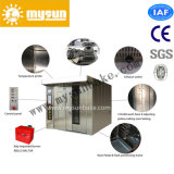 32/64trays 2 Racks Stainless Steel Humidification Bakery Rotary Oven con CE