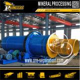Mineral de la arcilla de la explotación minera que friega la planta que se lava del depurador rotatorio de proceso del oro