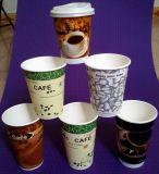 Alta qualidade reusável que anuncia o copo plástico impresso costume do logotipo, copo de café plástico
