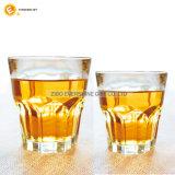 Jeu en verre de cuvette de whiskey inférieur épais en cristal fait sur commande