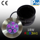 18W RVB DEL Waterproof Underwater Swimming Pool Lights (JP94766)